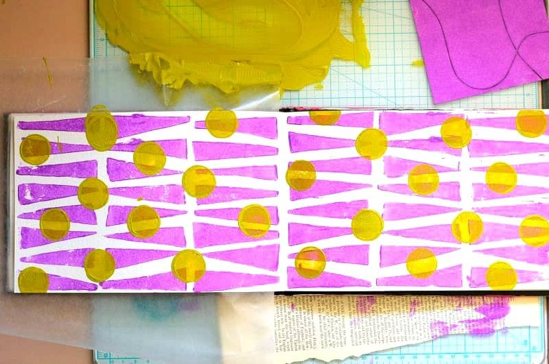 printmaking with foam pieces