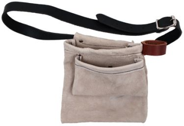 natural suede tool belt pouch