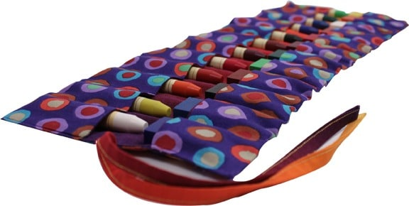 fabric crayon pouch