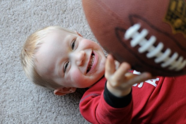 Beckett with football