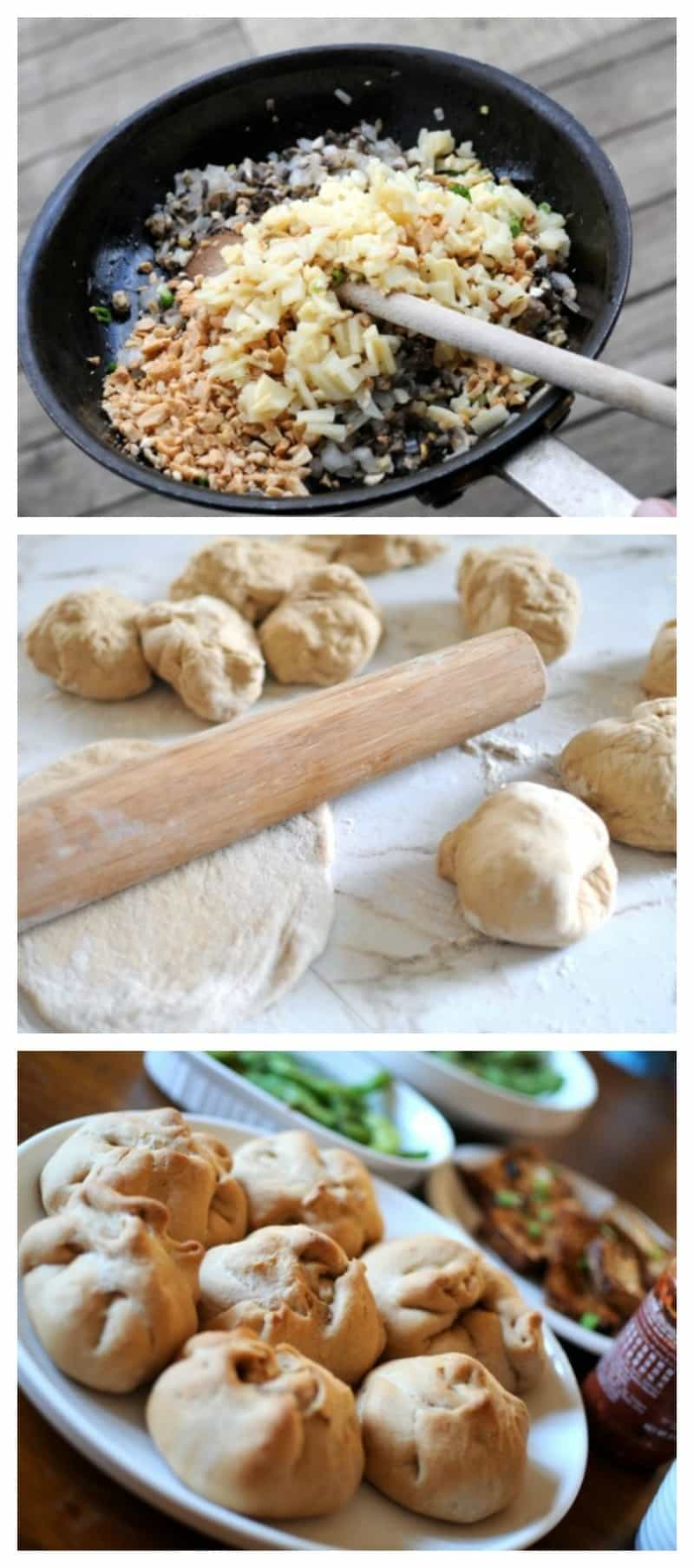 Chinese baked buns recipe- vegetarian - whole wheat - healthy - yummy