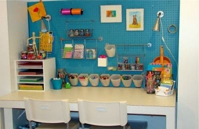 Art corner inspiration for your kids craftwhack - Craft area for small spaces property ...