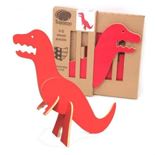 red dino toy