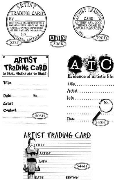 artist trading card stamps