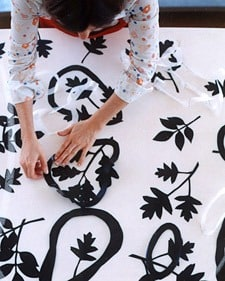making canvas rugs