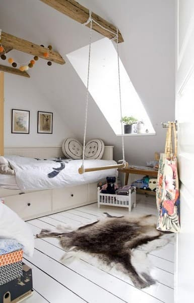 kid room with swing