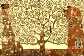 klimt tree of life poster