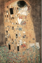 klimt kiss art poster