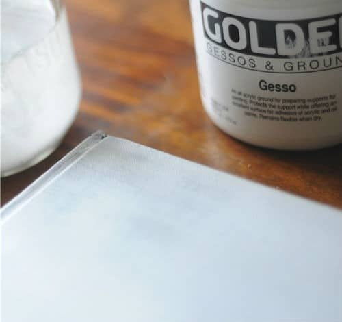 gesso on book