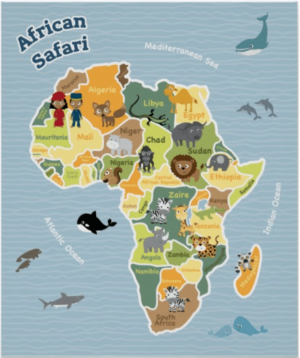 African map for kids