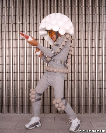 Space invader costume from Martha Stewart