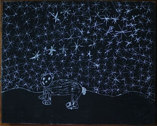 Polar Bear Scratch Board