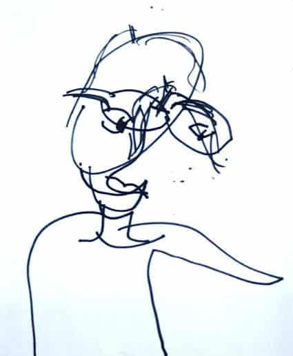 blind contour drawing | Artchoo.com