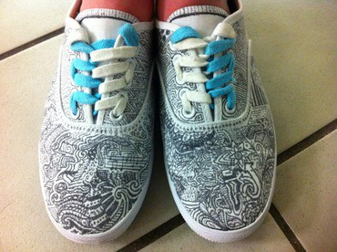 Sharpie art project ideas for kids for Shoe sculpture ideas