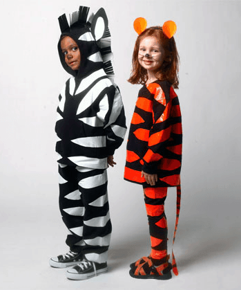 Tiger and Zebra from Family Fun