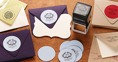 custom address stamps from Paper Source