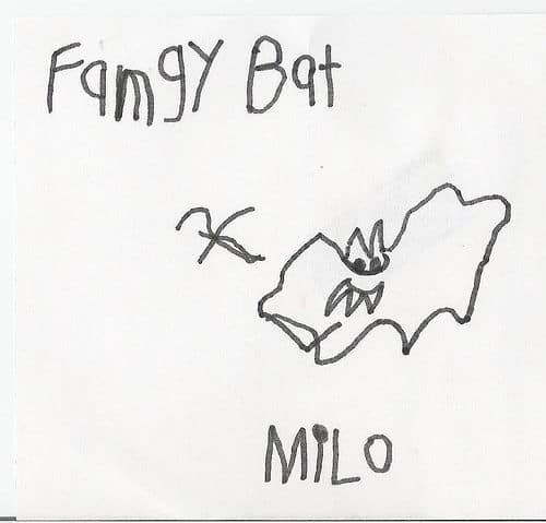 fangy bat drawing
