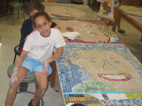children's mosaic project