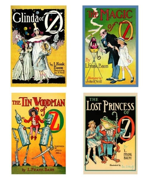 Oz books illustrated by John R. Neill