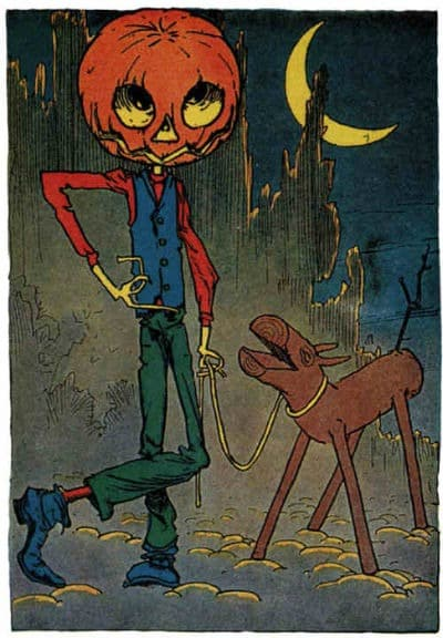Jack Pumpkinhead and The Sawhorse from Little Wizard Stories of Oz (1914)