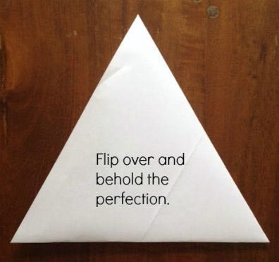 step 5 - folding a piece of paper into an equilateral triangle | artchoo.com