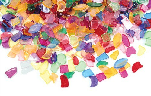 plastic mosaic pieces