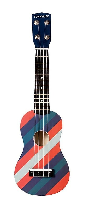 striped ukulele