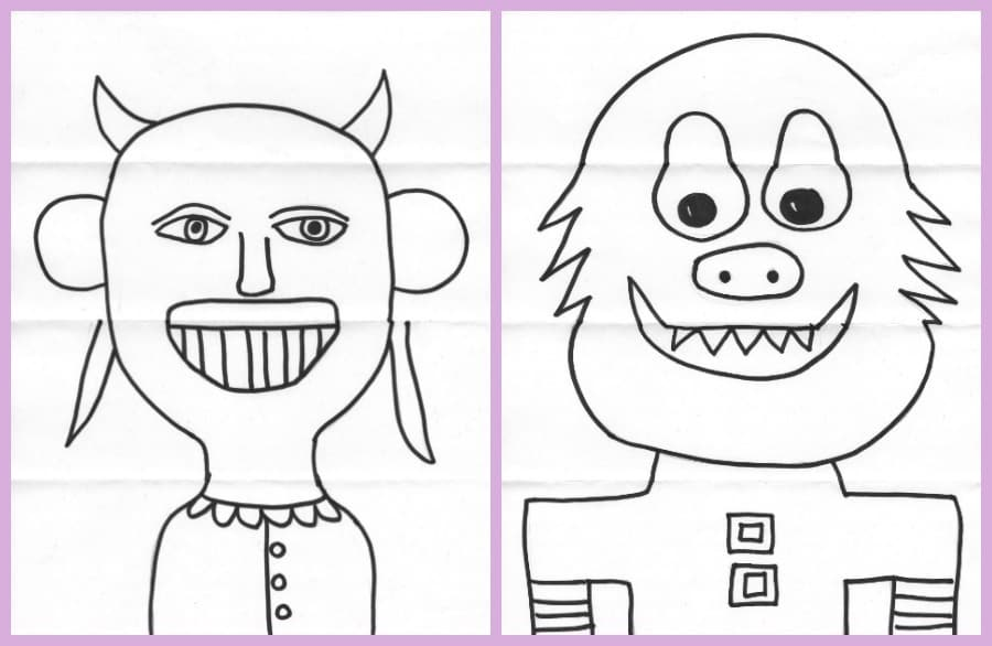 Exquisite Corpse Drawings