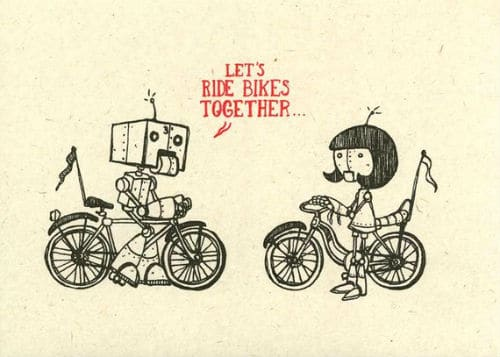 Bicycle robots print