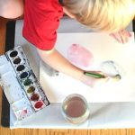 Wax Resist Art-Making With Little Kids