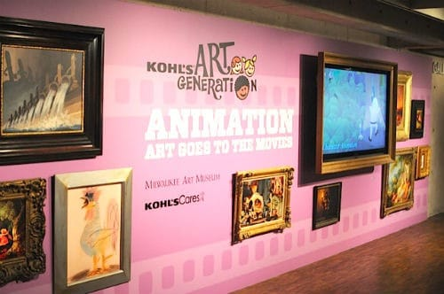 Milwaukee Art Museum Animation Exhibit