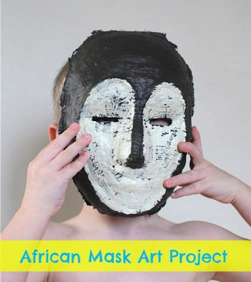 African mask art project for kids