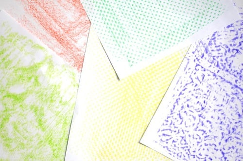 crayon rubbings art project