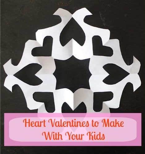 heart snowflakes to make with your kids