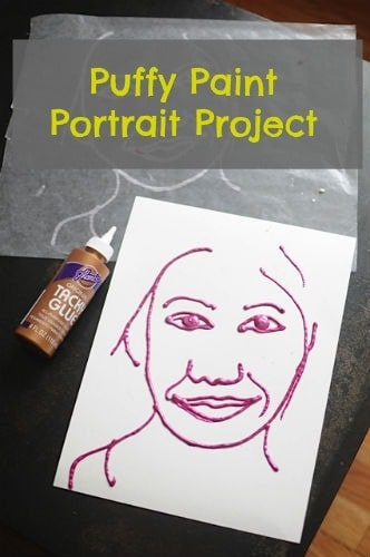 Artchoo.com • Puffy Paint Portrait Project