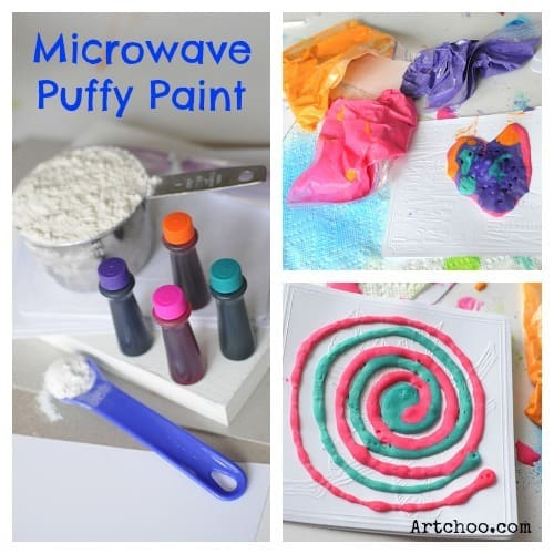 DIY Microwave Puffy Paint Project