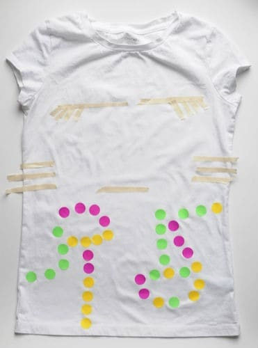 Spray paint tshirt project