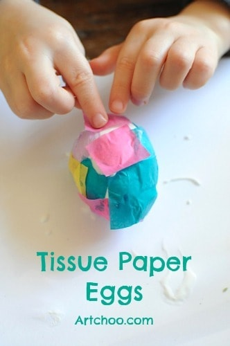 Tissue Paper Easter Egg Project