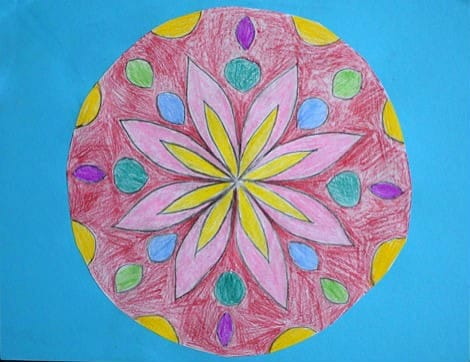 Mandala art project for kids