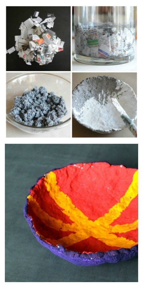 Paper pulp bowl project for Making paper pulp sculpture