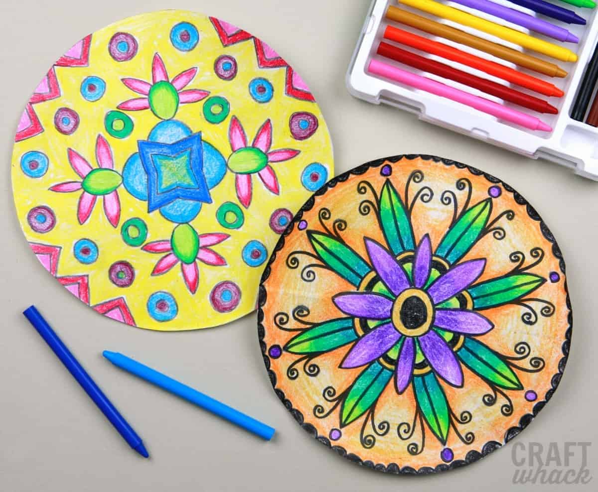 colored pencil mandalas