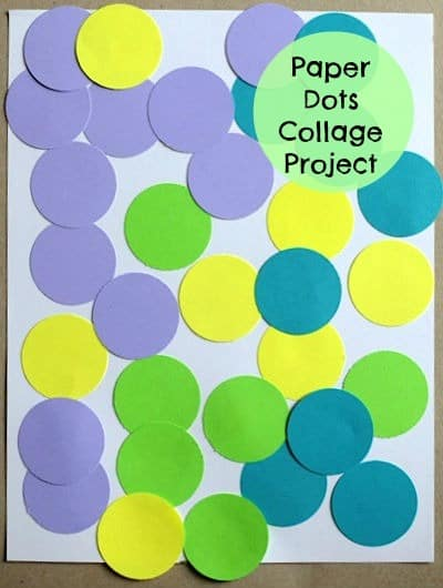 Paper Dots Collage Project for little kids- keeps them busy for a while! From Artchoo.com