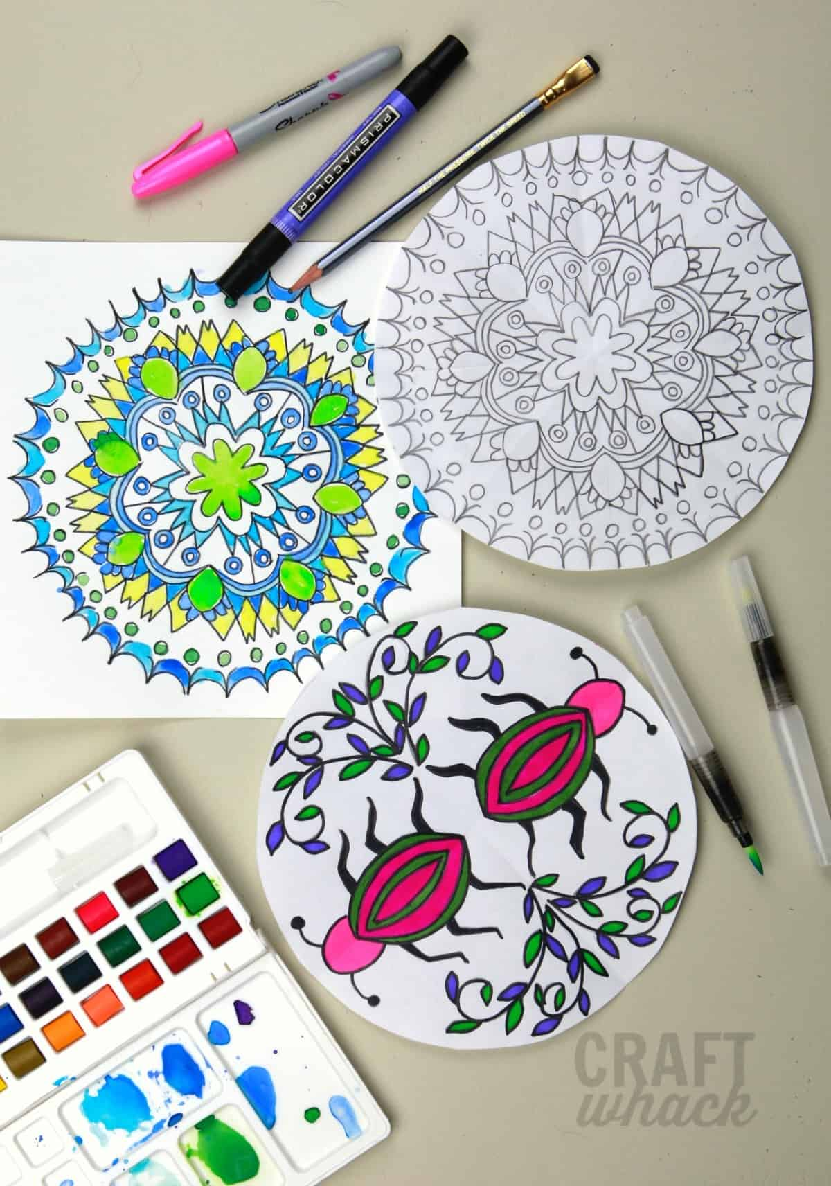 finished drawn mandalas