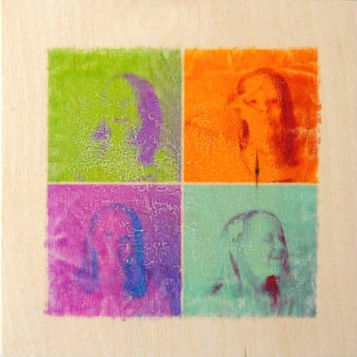 Photo transfer art project for kids