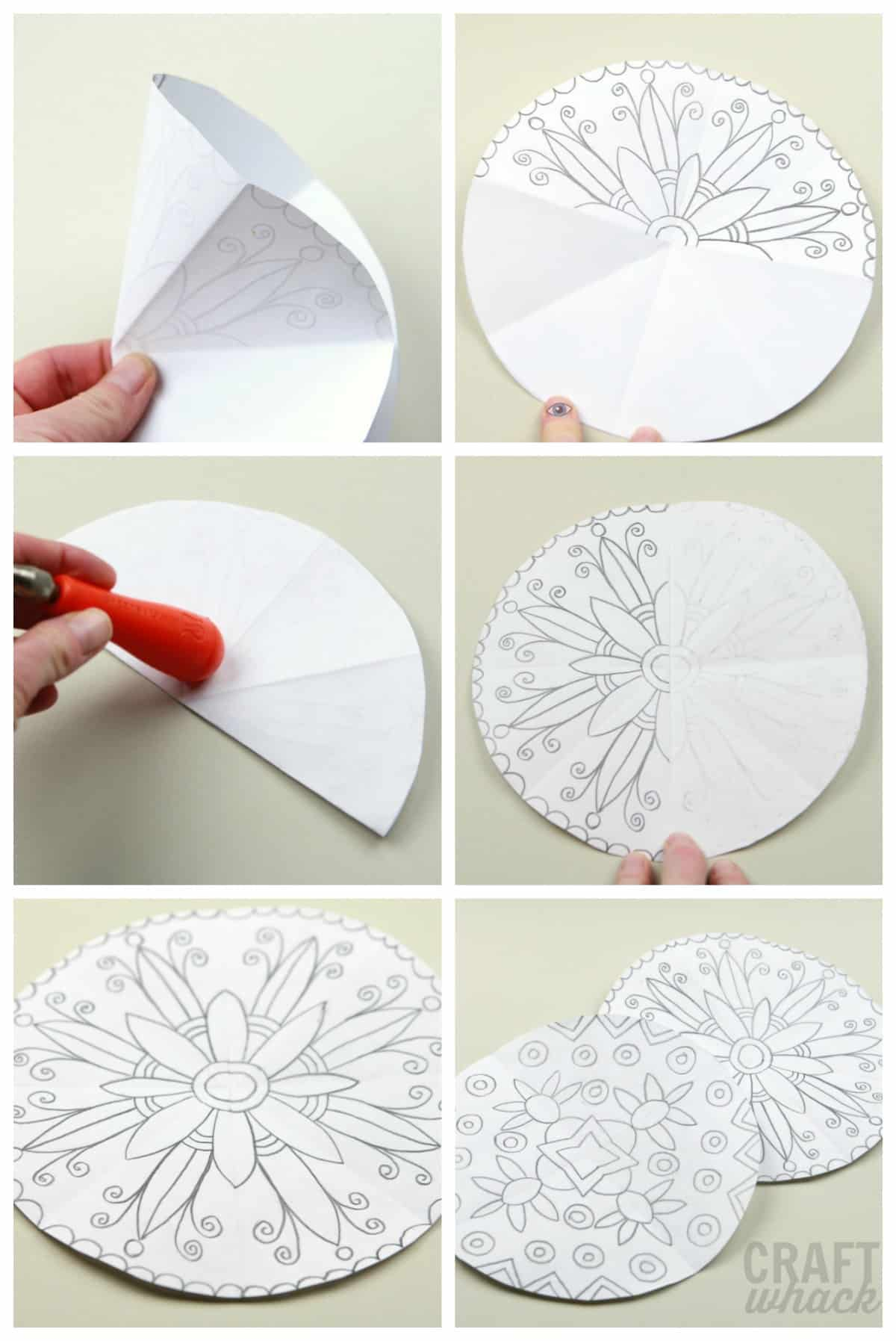 how to draw mandalas steps