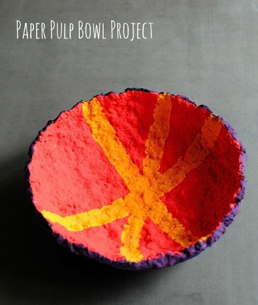 Paper Pulp Bowl Project from Artchoo.com