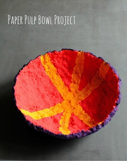 Paper Pulp Bowl Project from Craftwhack.com