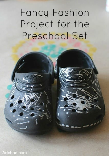 Preschooler Sharpie Shoes Project • Artchoo.com