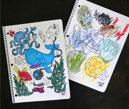 Coloring cover notebooks