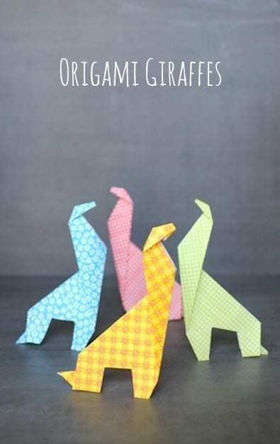 Origami For Kids: Make an Easy Origami Giraffe • Craftwhack - photo#17